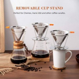 E-Prance Pour Over Coffee Dripper Stainless Steel Coffee Filter