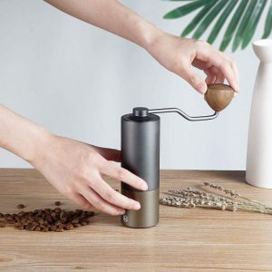 Heihox Manual Hand Coffee Burr Mill Grinder with Adjustable Setting