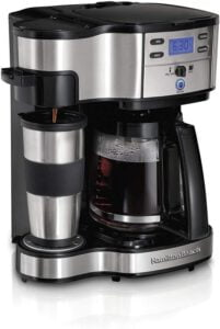 Hamilton Beach 2-Way Brewer Coffee Maker Single-Serve and 12-Cup Pot