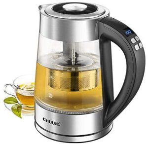 CHULUX Electric Glass Kettle with Tea Filter