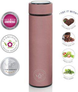 Teabloom All-Purpose Beverage Tumbler Infuser Travel Bottle - Rose Gold