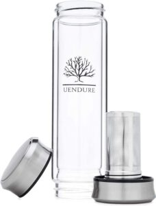 UEndure Glass Tea Infuser Bottle & Strainer