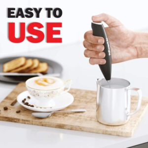 PowerLix Milk Frother Handheld Battery Operated Electric