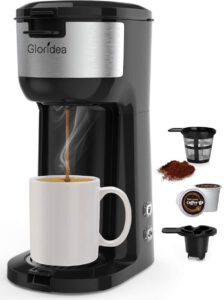 Gloridea K Cup Coffee Maker for K-Cup Pods and Ground Coffee