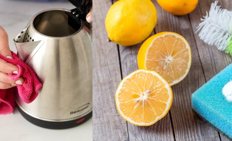 How to Clean Electric Kettle with Lemon