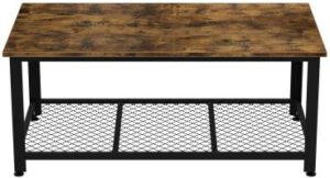 IRONCK Industrial Coffee Table for Living Room