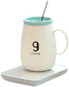 OKCafe Auto Shut Off Coffee 10.8 Ounce Coffee Mug Warmer Electric Heat Cup Warmer