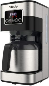 Sboly Drip Coffee Maker, Programmable Coffee Maker with Thermal Carafe