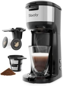 Sboly Single Serve Coffee Maker Brewer for K-Cup Pod & Ground Coffee