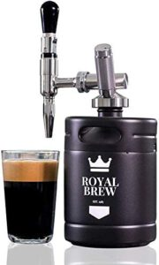 Royal Brew Nitro Cold Brew Coffee Maker (Matte Flat Black 64 oz.)