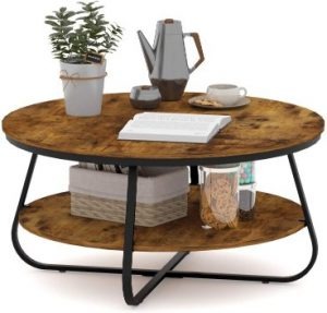 Elephance Round Coffee Table with Storage