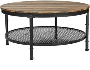 IRONCK Industrial Round Coffee Table