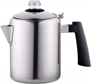 2. Cook N Home 8-Cupe Stainless Steel Stovetop Coffee Percolator