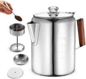 3. Eurolox Durable Material Stovetop Percolator Coffee Maker Pot