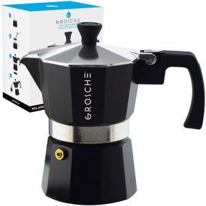 5. GROSCHE Milano Stovetop Espresso Maker
