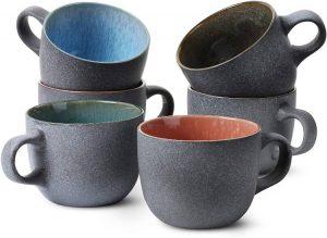 BTaT - Ceramic Coffee Cups Set of 6, 12 oz(350ml)
