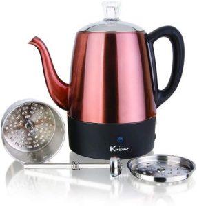 Euro Cuisine PER04 Electric Percolator Coffee Pot Maker