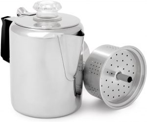 GSI Outdoors Glacier Stainless Steel Percolator