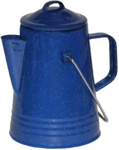 Grip Blue Enamel Coffee Percolator