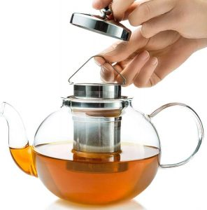 Loose Leaf Kettle Infuser Stovetop Gift Set - Glass Teapot