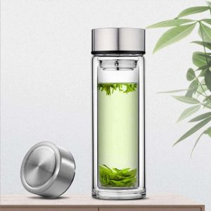 Paracity Glass Tea Tumbler Glass Infuser Bottle