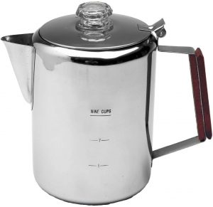 Texsport 9 Cup Stainless Steel Percolator