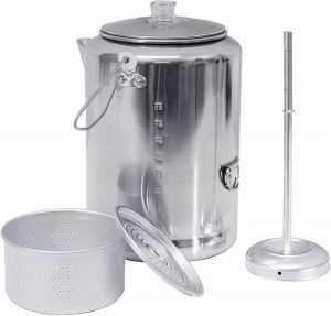 Texsport Aluminum 20 Cup Percolator Coffee Maker