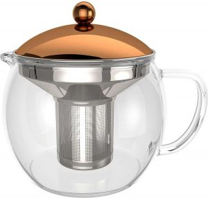 bonVIVO TEMPA Loose Leaf Tea Infuser - Removable Stainless Steel Strainer