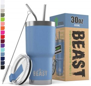 BEAST 30oz Stormy Sky Tumbler - Stainless Steel Vacuum Insulated Coffee Ice Cup
