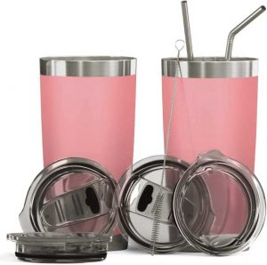 Bluepeak Double Wall Stainless Steel Vacuum Insulated Tumbler Set - 2 Pack