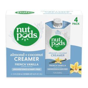 Nutpods French Vanilla Unsweetened Dairy-Free Liquid Coffee Creamer